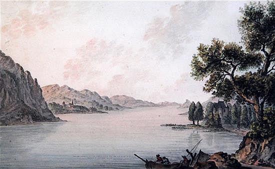 Franz Kaisermann (1765-1833) Fishermen in a river landscape 8 x 13in.