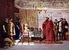David Wilkie Wynfield (1837-1887) Princess receiving ambassadors 6.5 x 8.5in.