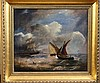 19th century English School Shipping off the coast 12 x 14in.