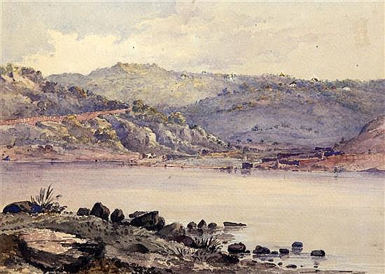 Lieutenant General Henry Francis Hancock (1834-1887) Views of The Lake, The Blue Valley and Marray''s Folly, Mahabaleshwar 9.5 x 13in.