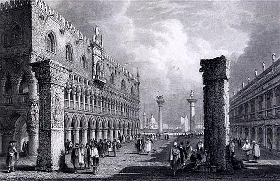 Henshall after Samuel Prout The Rialto at Venice