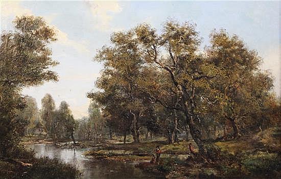 Frederick Henry Henshaw (1807-1891) Near Tewkesbury 15.5 x 24in.