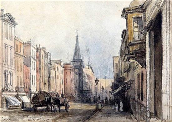 Thomas Coleman Dibdin (1810-1893) South Audley Street 5 x 7in.
