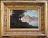 Egidio da Rubelli Italian lake scene 11.5 x 17in.