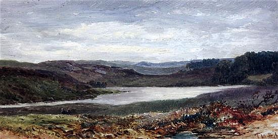 Thomas Morris Ash (fl.1882-1891) 'Arthog, Barmouth', 'Falls on the Clyde' and 'The Estuary, Barmouth' 5.5 x 11in.