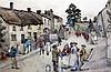 Frederick Brueton (fl.1882-1911) Figures in a village street 12 x 17in.
