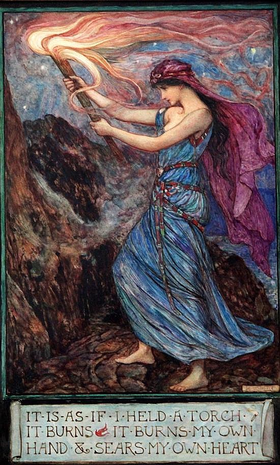 Henry Justice Ford (1860-1941) 'The Burning Torch' 11.5 x 7in.
