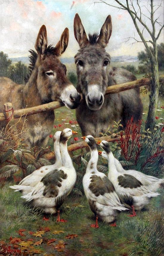 William Weekes (1856-1909) A Conversation amongst Friends, 30 x 20in.