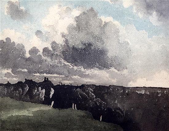Bertram Nicholls (1883-?) Moorland landscape 11 x 14in.