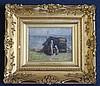 Robert Gemmell Hutchison (1855–1936) Mother and child beside a hut 5 x 6.5in.