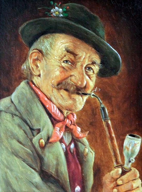 Hans Barttenbach (1908-) 'Old Thomas' 6.25 x 4.75in.