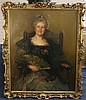 Circle of Philip de László (1869-1937) Portrait of a seated lady 44 x 36in., ornate giltwood frame
