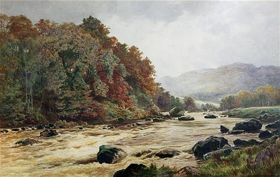 Cyril Ward (1863-1935) A stream that bursts .... 24 x 38in.