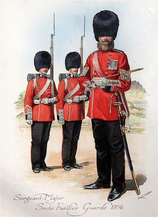 Richard Simkin (1840-1926) and others Scots Guards,