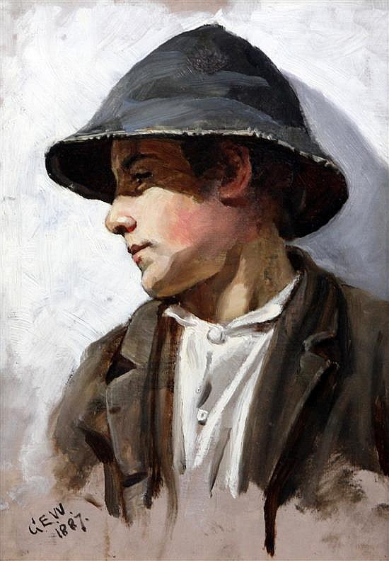 G.E. Wellesley (Exh. 1893) Sketch of a boy 13.5 x 9.5in.
