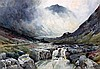 Alfred Fontville de Breanski (1877-1957) The Path of Glencoe 9.5 x 13.5in.