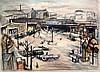 Julius Wolfgang Schülein (1881-1970) Gare Mont Parnasse 14 x 20in.