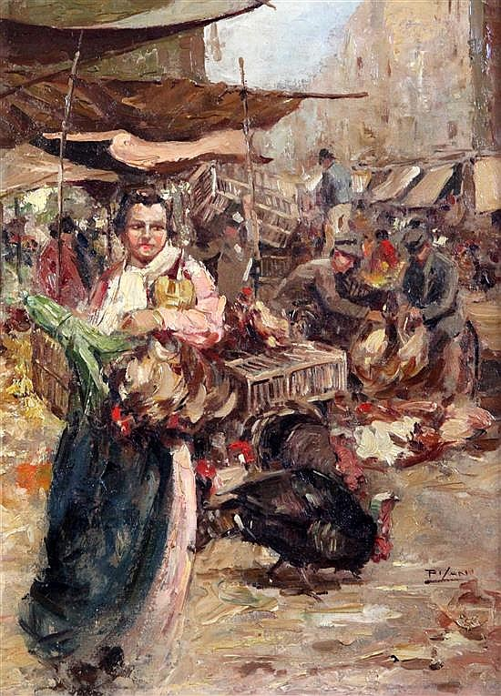 Pilani The Poultry Market 15 x 11in.