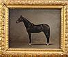 Ivan Prianishnikov (Russian, 1841-1910) Standing bay horse 10.25 x 14in.