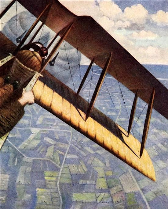Christopher Richard Wynne Nevinson (1889-1946) The Great War Fourth Year 1918, with signed colour plate Banking overall 11.5 x 9in.