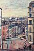 Llewellyn Petley-Jones (1908-1986) View from Rue de Mont Cenis, Paris 25.5 x 18in.