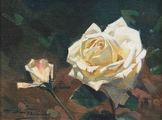 Dino Paravano (1935-) Study of a rose 7 x 9in.