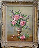 Albert Williams (1922-2010) Still life of pink roses in a vase 15.5 x 11.5in.