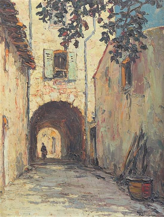 Andre Beronneau (French, 1896-1973) Vieille Rue Grimaud 16 x 12.5in.