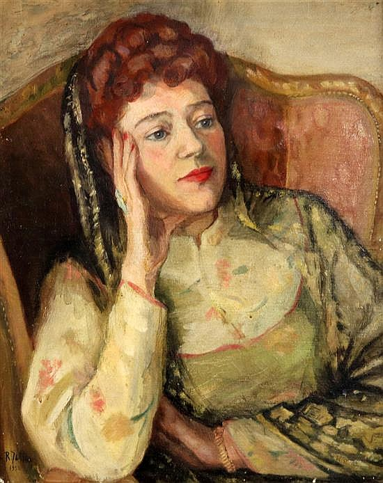 R.L. Jeltes Portrait of Mrs Walter Bateson 20 x 16in.