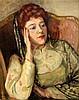 R.L. Jeltes Portrait of Mrs Walter Bateson 20 x 16in.