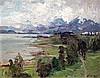 Erich Mercker (German, 1891-1973) Coastal landscape 15.5 x 19in.