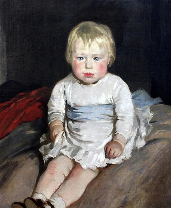 Glyn Philpot (1884-1937) Portrait of Rosemary Cross as a child 24 x 20in.