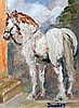 Ronald Ossory Dunlop (1894-1973) Study of a horse 7.5 x 5.5in.
