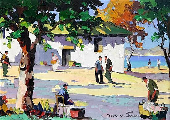 § Cecil Rochfort D'Oyly John (1906-1993) Cagnes Sur Mer, Near Nice 10 x 14in.