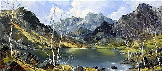 Charles Wyatt Warren (1908-) Snowdon from Llyn Nantlle 9.5 x 22in.