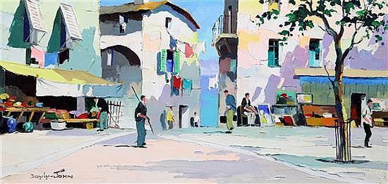 § Cecil Rochfort D'Oyly John (1906-1993) Cap Ferrat, near Nice and Cassis near St Tropez 14 x 28in.