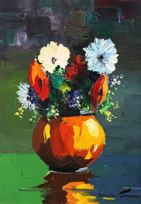 § Cecil Rochfort D'Oyly John (1906-1993) Still life of flowers in a vase 14 x 10in.