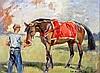 § Peter Biegel (1913-1987) 'The Scarlet Sheet' 10 x 13in.