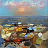 § Danny Ferguson (1925-1993) 'Sea Edge' 23.25 x 23.25in.