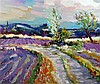 Jeffrey Pratt (b.1940) Lavender near Mont Ventoux 30 x 36in.