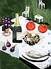 § Mary Fedden (1915-2012) Table top still life in a garden 11.5 x 8.5in.