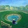§ Harold Mockford (1932-) Fishing the dew pond 19.5 x 20in.