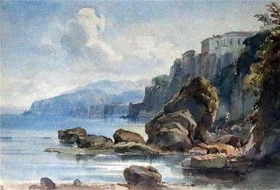 William Leighton Leitch (1804-1883) Tassos House, Sorrento - Morning 8.5 x 12.5in.