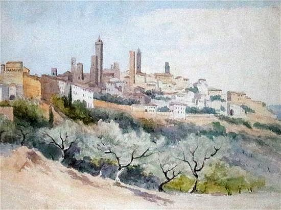 Augustus John Cuthbert Hare (1834-1903) Views in Italy largest 9 x 12.75in.