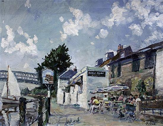 David Ghilchick (1892-1974) Strand on the Green 14 x 18in.