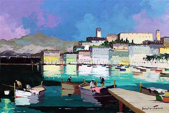 § Cecil Rochfort D'Oyly-John (1906-1993) 'Cannes', 20 x 30in.