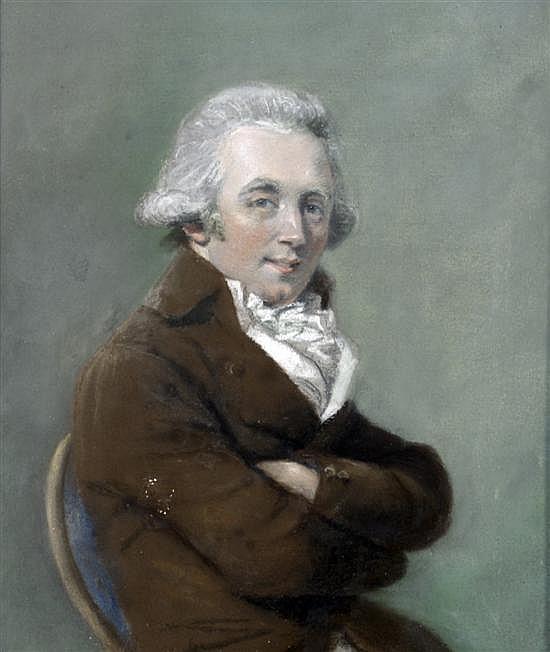 John Raphael Smith (1752-1812) Portrait of the artist Daniel Gardner (1750-1805) 11 x 9.5in.