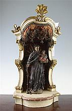 A 19th century Continental religious shrine, 22in.