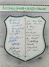 English Football League and League of Ireland signatures for a representative game played at Dublin May 4th 1949, 10.75in. x 8in.