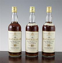 Eighteen bottles of Macallan, 10 years old, single Highland Malt Scotch Whisky
